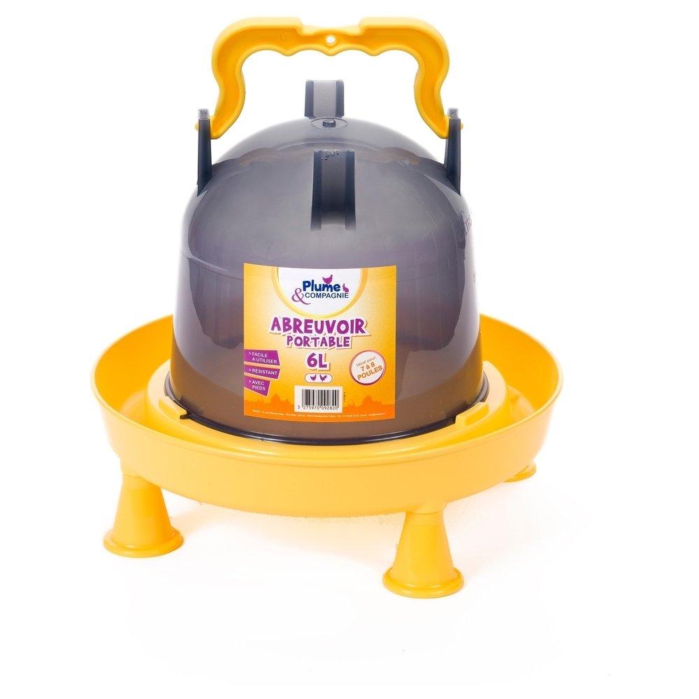 PLUME ET COMPAGNIE Abreuvoir 6 litres sur pieds plastique volailles
