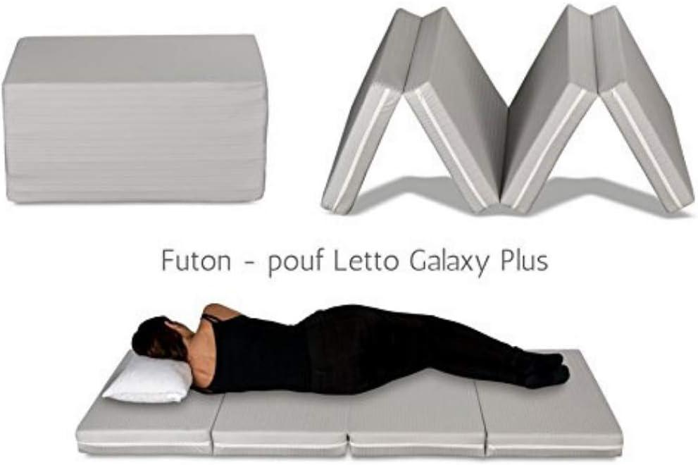 mod/èle Galaxy pliable en 4 pi/èces et transformable en pouf couverture gris matelas simple 10 cm de haut Evergreenweb adapt/é /à tous les sommiers Futon-lit matelas gain de place d/éhoussable