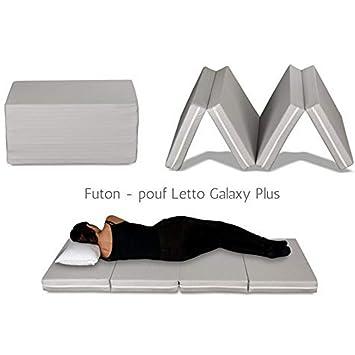 Evergreenweb – Futón cama, colchoneta ahorraespacio, plegable en 4 partes y convertible en práctico puf, futón portátil apto para masaje shiatsu. ...