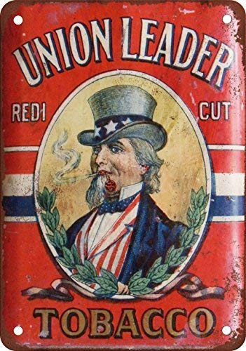 - GMNJH Union Leader Tobacco Vintage Look Reproduction Metal Tin Sign 8X12 Inches