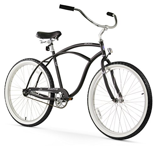 Firmstrong Urban Man Single Speed Beach Cruiser Bicycle, 26-Inch, Matte Black