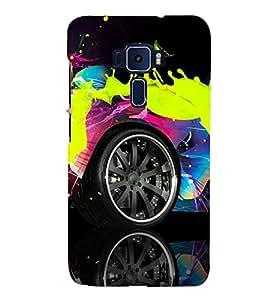 AUTOMOBILE PAINTED WITH SPLASHING FLUIDIC PAINT 3D Hard Polycarbonate Designer Back Case Cover for Asus Zenfone 3 ZE552KL::Asus Zenfone 3 (5.5 INCHES)