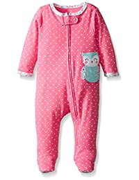 """Carter's Baby Girls' """"Flowery Owl"""" Coverall"""