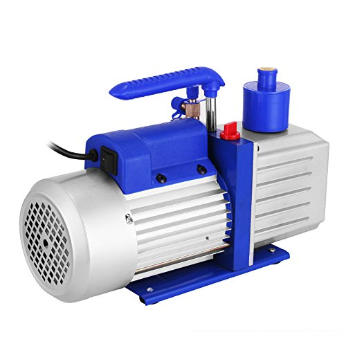 VEVOR Vacuum Pump 9CFM 1HP Two Stage HVAC Rotary Vane Vacuum Pump Wine Degassing Milking Medical Food Processing Air Conditioning Auto AC Refrigerant Vacuum Pump (2-Stage, 9CFM)