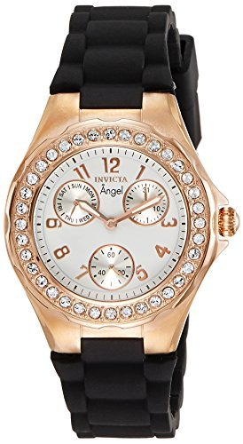 Invicta Women's 1645 Angel White Dial Crystal Accented (Invicta Crystal Wrist Watch)