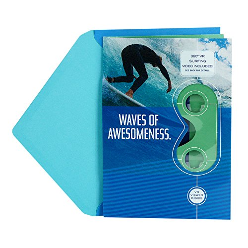 Hallmark Father's Day Greeting Card Removable Virtual Reality VR Viewer (Surfing Waves Virtual Reality - Send Card Gift Virtual