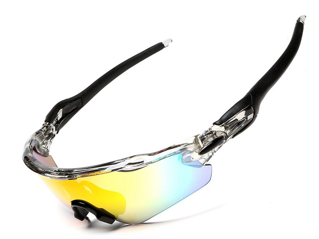 Gafas Polarizadas Deporte Bici Anti UV400 Gafas para Correr Running Antivaho con 5 Lentes Intercambiables Adaptadas Tambi/én A Ciclismo Bicicleta De Monta/ña MTB Medio Marco Gafas De Sol
