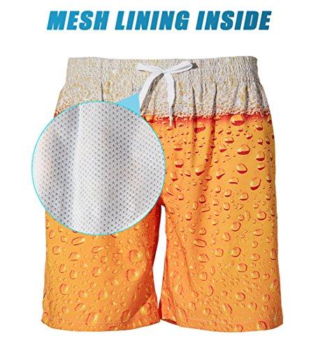 ad8ab0c05a TUONROAD Mens 3D Printed Funny Swim Trunks Quick Dry Beachwear Sports  Running Swim Board Shorts Mesh Lining