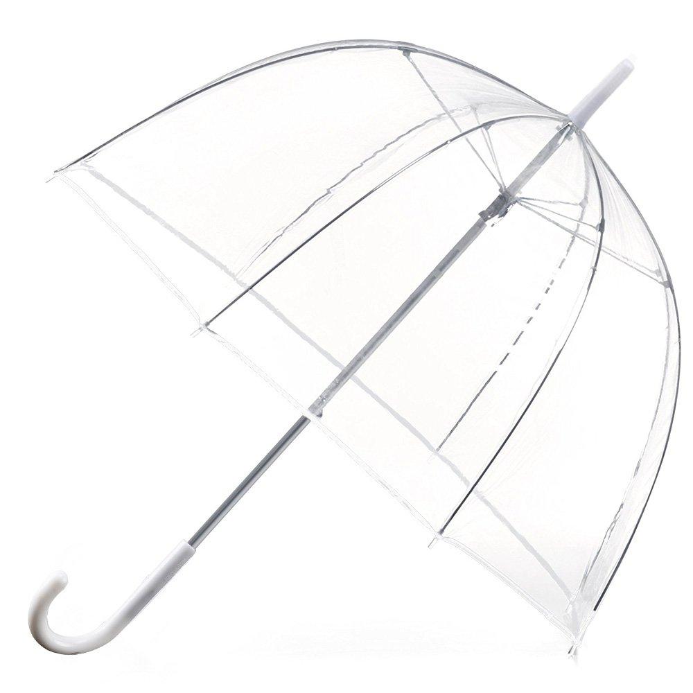 Allright Ø80 CM Regenschirm Transparent Hochzeit Durchsichtiger Regenschirm Stockschirme Paraplü