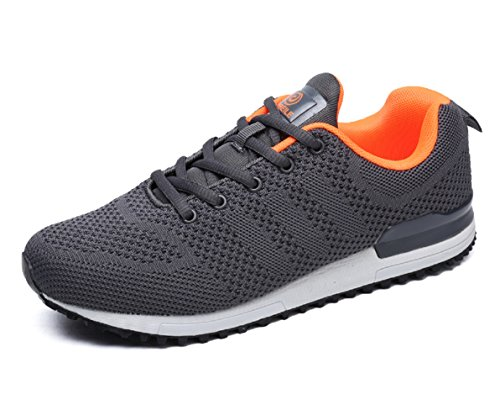 Running D US Mens Leisure Walking Lightweight Jogging Shoes 10 M Comfortable Athletic Shoes Grey U44YOAq