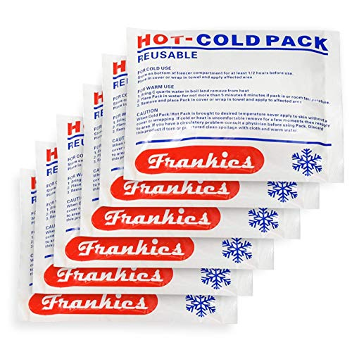 Dr. Franklyn's Reusable Hot and Cold Gel Packs - Multipurpose Hot & Cold Compress Therapy - Quick Pain Relief for Injury & Sprains (5