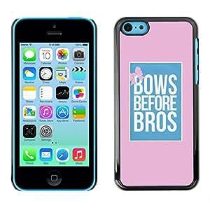 "For Apple iPhone 5C Case , Se inclina ante cartel rosa Bros Rosa Azul"" - Diseño Patrón Teléfono Caso Cubierta Case Bumper Duro Protección Case Cover Funda"