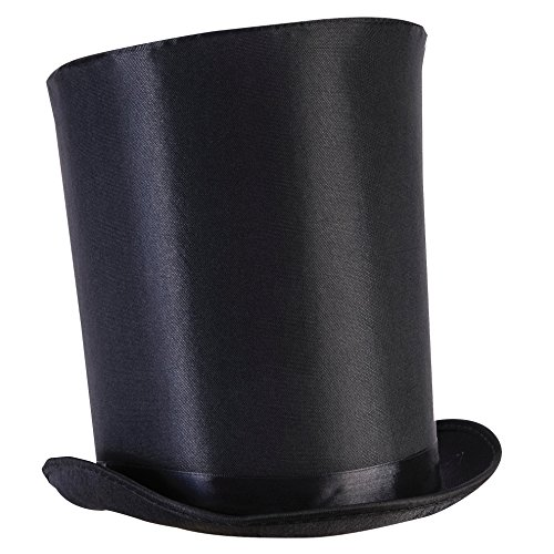 Forum Novelties Unisex-Adults Extra Tall Top Hat, Black-Tall