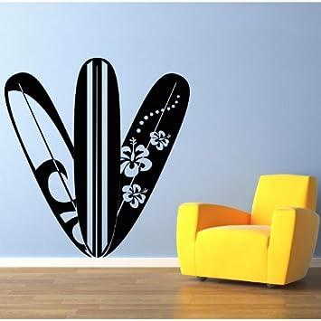 Adesiviamo Tablas de Surf - tavole Da Surf Pared Tatuajes Vinilo Wall Stickers Decals: Amazon.es: Hogar
