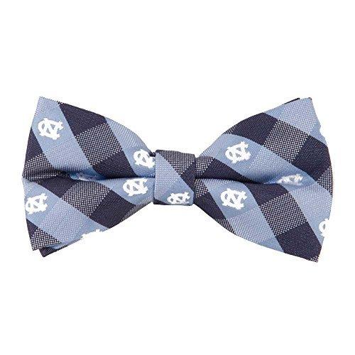 (North Carolina Tarheels Checked Logo Bow Tie - NCAA College Team Logo)