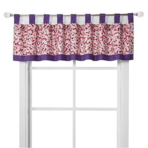 Trend Lab Talula Red Purple PAISLEY Window Valance 15 x 56 by