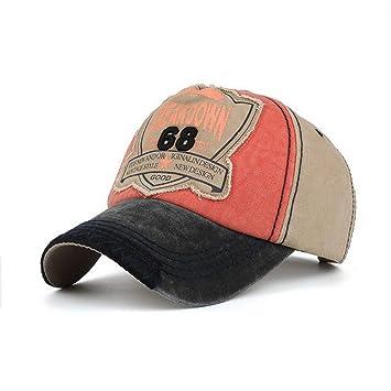 Unisex Vintage Gorra de béisbol Hombres Mujeres Gorra desgastada Lavado Ribete Parche Deportes Personalizados Sombrero de