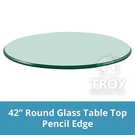 42 Inch Round Glass Table Top 3 8 Thick Pencil Polish Edge