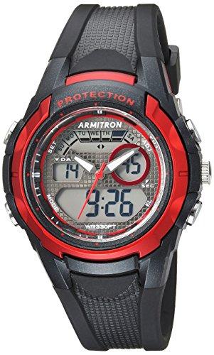 Diving Digital Analog (Armitron Sport Unisex 25/6429RBK Red Accented Analog-Digital Chronograph Black Resin Strap Watch)