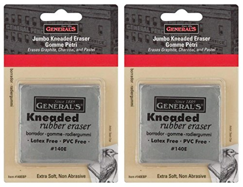 Generals Eraser - 2-Pack - General Pencil Jumbo Grey Kneaded Eraser