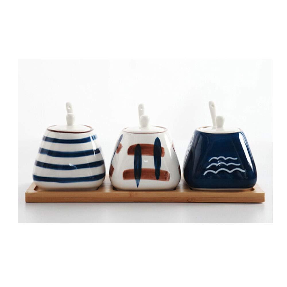 MINGRUIGONGMAO Kitchen Seasoning Box Set, Ceramic Seasoning Jar, Seasoning Box Salt Shaker, Kitchen Utensils Box, Plush toys by MINGRUIGONGMAO