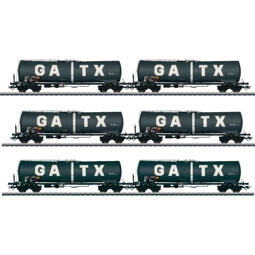 2010 Qtr.1 GATX Tank 6-Car Set (EX) Category: H0 Car Sets (HO Scale)