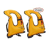 DEHUI GLOBLE Adult Portable Inflatable Snorkel Jacket Snorkel Vest (NEW GENERATION ) For Diving Safety