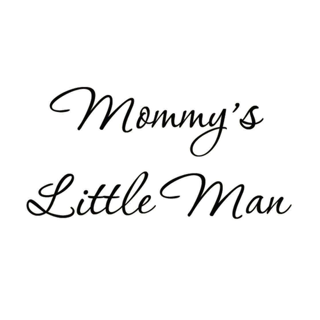 Amazon.com: Mommy\'s Little Man Nursery Wall Decals Cute Baby ...