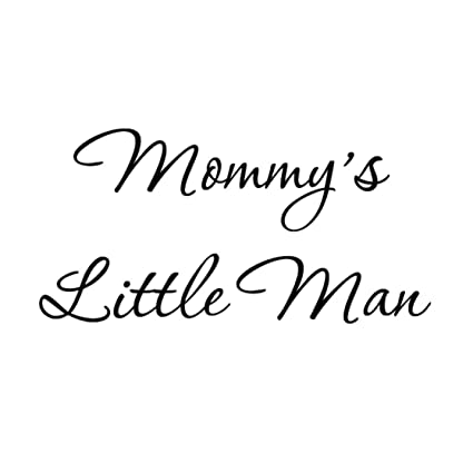Amazoncom Mommys Little Man Nursery Wall Decals Cute Baby Quote