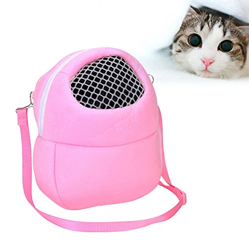 Pm Blue Handbag (KAYI Pet Carrier for Hedgehog Hamster Outgoing Travel Bag Shoulder Strap Portable Handbag Container)