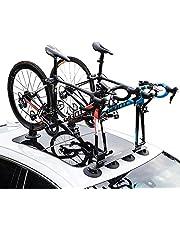 LJ-BICYCLE RACK Portaequipajes En El Techo Ventosa Coche Coche Bicicleta De Montaña Bicicleta De Carretera Marco De Transporte Aspiración Al Vacío Blue-1 Bike Version