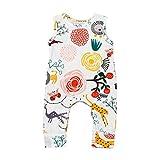 #8: Kehen Cute Newborn Baby Girls Flower Animal Print Romper Bodysuit Outfits Spring Summer Tops