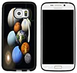 Rikki Knight Solar System Planets Design Samsung Galaxy S6 Edge Case Cover - Black