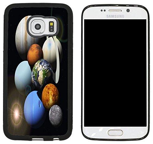 Rikki Knight Solar System Planets Design Samsung Galaxy S6 Edge Case Cover - Black