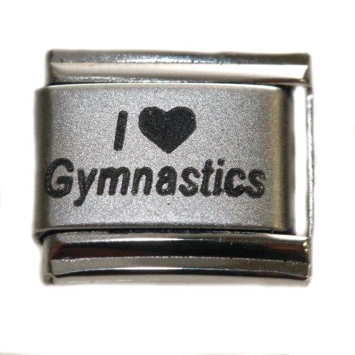 (SEXY SPARKLES Italian Charms Original I Love Gymnastics Bracelet Link)