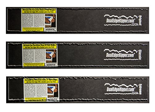 "Dual Edge Ripper Ultimate Package Original, Classic and Extreme Bundle Watercolor Paper Deckle Edge Tool 3-24"" Tools (Ruler Decorative Edge)"