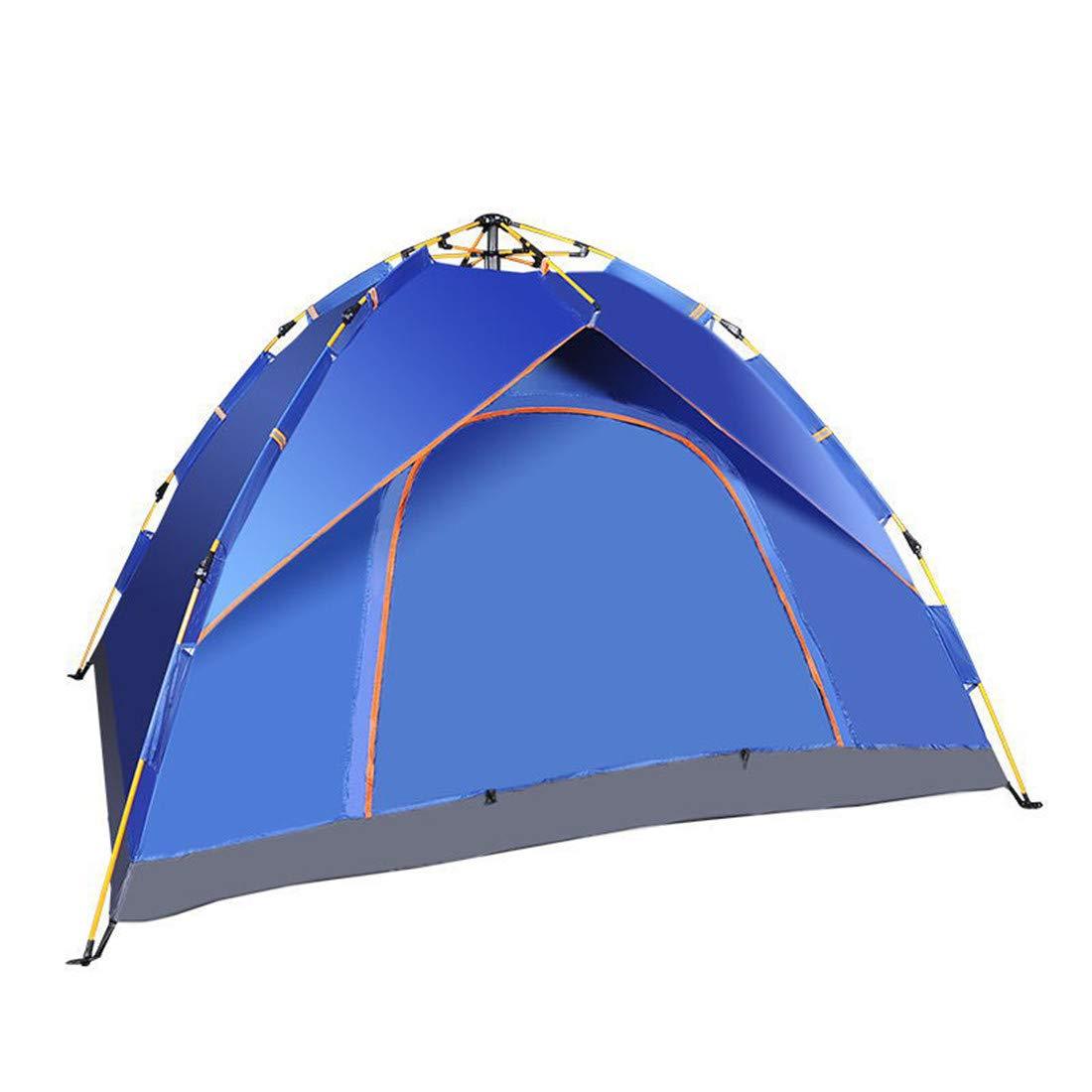LUHUIYUAN Tenda da Campeggio Tenda Esterna Tenda Multi-Persona Tenda Automatica Aperta Tenda da Viaggio all'aperto Tenda Automatica da 3-4 Persone,Royalblu