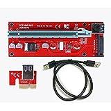 DKEY Riser Usb V007 PCI-E 1 X a 16 X cavo di estensione USB 3.0 per Mining Rig Bitcoin e altre