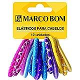 Kit Colors Fashion Com 12 Elástico Para Cabelo, Marco Boni, Sortida