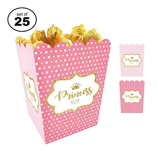 - Favor Boxes For Baby Showers And Kids Birthday Parties. Perfectly Sized Portions For All Kinds Of Party Favors & Goodie Bags, Food Grade & Easy to Assemble, 25 per set. Princess Theme
