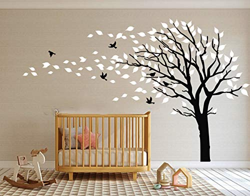 Cheap  Large Tree Blowing in The Wind Tree Wall Decals Wall Sticker Vinyl..