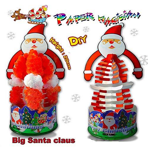 Euone  Magic Paper Tree, Santa Claus Paper Tree Flowering Creative Colorful Magic Growing Xmas Tree Toy ()