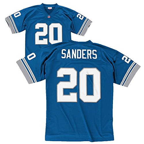 Barry Sanders Blue Detroit Lions Throwback Jersey 2X-Large
