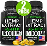 (2 Pack | 240 Pills) Hemp Oil Capsules 15 000MG of Pure Hemp Extract - Pain, Stress & Anxiety Relief - Natural Sleep & Mood Support - Made in The USA - Maximum Value - Rich in Omega 3, 6, 9