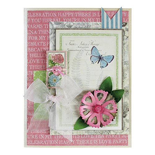 Crafty Cats - Spellbinders S2-173 Die D-Lites Scrappy Cat Crafty Flower Six Etched/Wafer Thin Dies