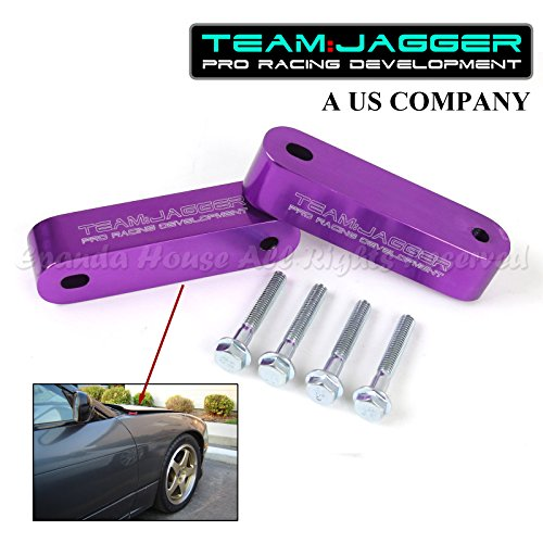 For 00-08 S2000 S2K JDM Style Hood Riser Spacer Vent Engine Hot Air Billet Anodized Purple