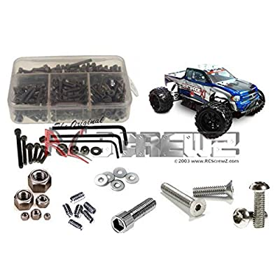 RCR014 - Redcat Racing Rampage XT 1/5th Stainless Steel Screw Kit: Toys & Games