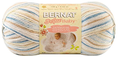 Bernat Softee Baby Yarn, Ombre, 4.2 Ounce, Little Boy Blue, Single Ball - Kid Classic Yarn