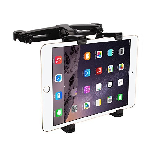 Bedee Car Seat Headrest Mount Holder Adjustable Rotatable for Apple iPad Air/Mini/Pro, Samsumg Galaxy Tab, Kindle Fire, 7 to 12 Tablets, for Portable DVD Player DBPOWER/APEMAN/WONNIE/COOAU/FUNAVO