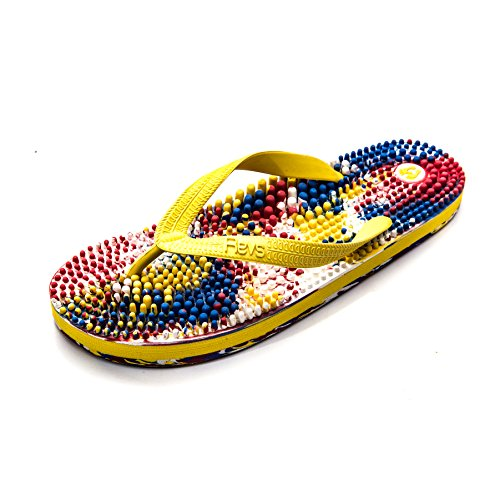 Massage Flip Multi Massage relief amp; FEET Yourself SORE Revs TIRED Treat from Daily Sole Revitalise to LEGS Reflexology Coloured Reported Your benefits CIRCULATION better pain relief included Reflexology Flops qIgpX